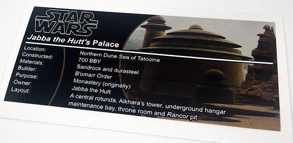 Lego Star Wars UCS / MOC Sticker for Jabba the Hutt's Palace (4480 / 9516)