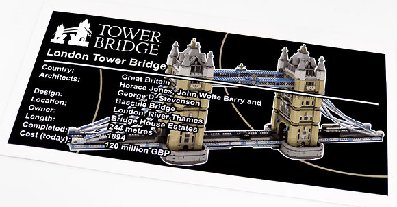 Lego Creator UCS Sticker for London Tower Bridge 10214