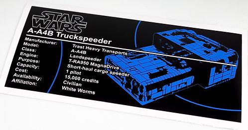Lego Star Wars UCS / MOC Sticker for A-A4B Truckspeeder (MOC-56995)