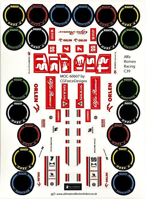 Lego Sticker Sheet for F1 Alfa Romeo Racing C39 by LegoCG (MOC-60607)