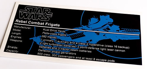 Lego Star Wars UCS Sticker for Rebel Combat Frigate 75158