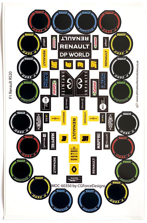 Lego Sticker Sheet for F1 Renault RS20 by LegoCG (MOC-60350)