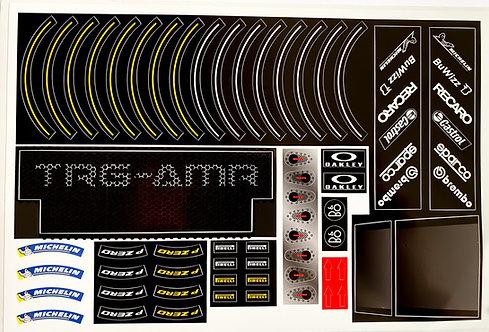 Lego Technic MOC Sticker for Aston Martin Vantage GT3 (Sheet 2)