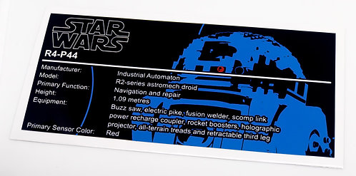 Lego Star Wars UCS / MOC Sticker for R4-P44