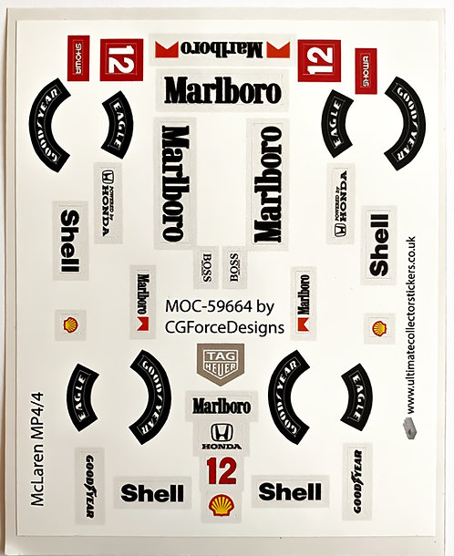 Lego Sticker Sheet for F1 McLaren MP4/4 by LegoCG (MOC-59664)