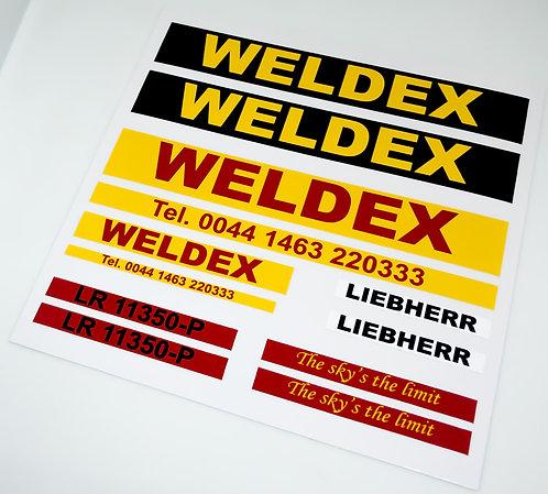 Lego Technic UCS / MOC Stickers for Weldex Vehicles