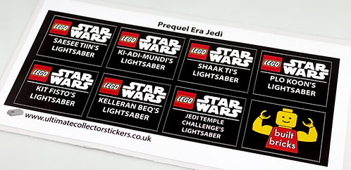 Lego Star Wars UCS / MOC Stickers for Lightsabers Pack 3 (built_bricks)