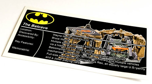 Lego Batman UCS Sticker for Batcave 76052