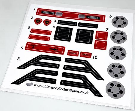 Lego Sticker Sheet for Lamborghini Countach (MOC-85018)