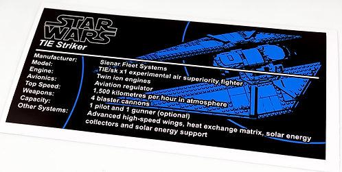 Lego Star Wars UCS Sticker for TIE Striker 75154