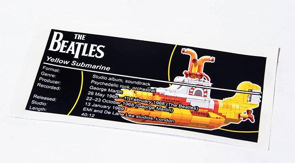 Lego Ideas UCS Sticker for Yellow Submarine 21306