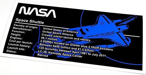 Lego UCS / MOC Sticker for Space Shuttle (MOC-46228)