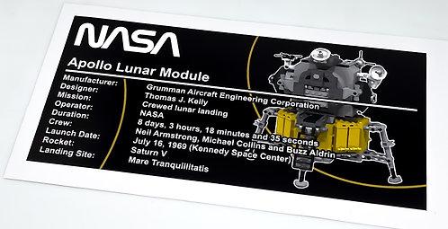 Lego Creator UCS Sticker for Lunar Lander 10029
