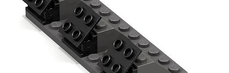Lego Sticker Plate Display Stand (Genuine Lego parts)