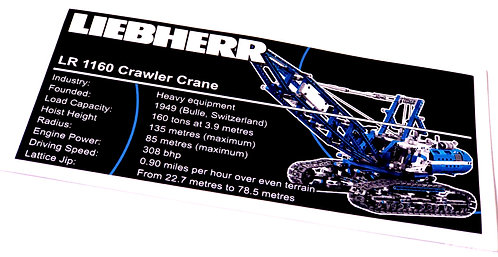 Lego Technic UCS Sticker for Crawler Crane 42042