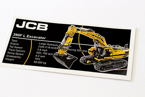 Lego Technic UCS / MOC Sticker for Motorised Excavator 8043