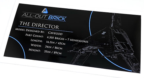 Lego Star Wars UCS / MOC Sticker for All-Out Brick Cavegod The Director
