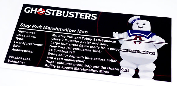 Lego Creator UCS Sticker for Ghostbusters Stay Puft + Instructions + Face