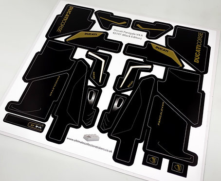 Lego UCS / MOC Sticker Sheet for Ducati Panigale V4 R 42107 (Black and Gold)