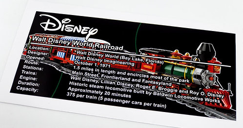 Lego Creator UCS Sticker for Disney Train and Station 71044