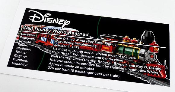 Lego Creator UCS Sticker for Disney Train and Station 71044
