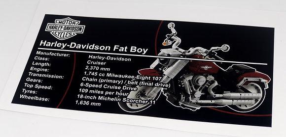Lego Creator UCS Sticker for Harley-Davidson Fat-Boy 10269