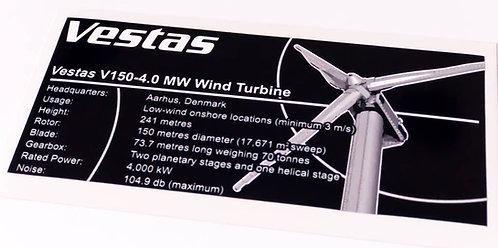 Lego Creator UCS Sticker for Vestas Wind Turbine (7747, 4999, 10268)