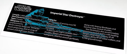 Lego Star Wars UCS Sticker for Imperial Star Destroyer 10030