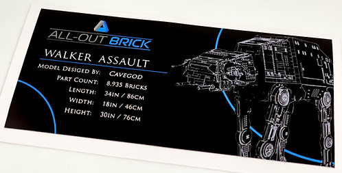 Lego Star Wars UCS / MOC Sticker for All-Out Brick Cavegod AT-AT