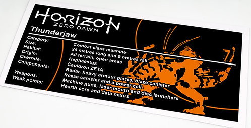 Lego UCS / MOC Sticker for Horizon Zero Dawn Thunderjaw