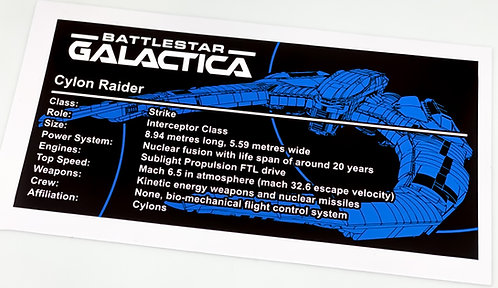 Lego UCS / MOC Sticker for Battlestar Galactica Cylon Raider