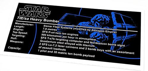 Lego Star Wars UCS / MOC Tie Heavy Bomber