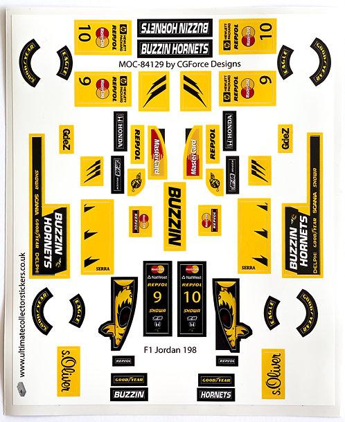 Lego Sticker Sheet for F1 Jordan 198 by LegoCG (MOC-84129)