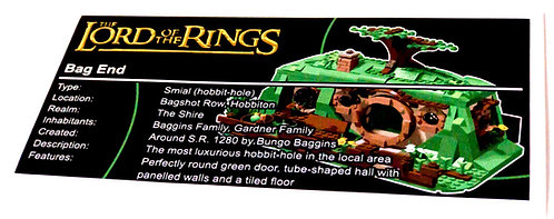 Lego The Lord of The Rings UCS Sticker for An Unexpected Gathering 79003