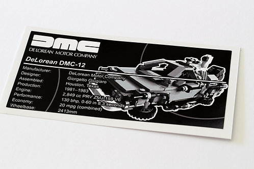 Lego Creator UCS Sticker for DeLorean 21103