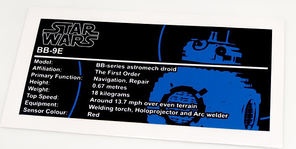 Lego Star Wars UCS / MOC Sticker for BB-9E