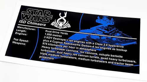 Lego Star Wars UCS Sticker for Imperial Star Destroyer, Chimaera 75252