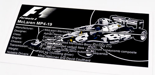 Lego Technic UCS Sticker for McLaren F1 Team Racer 8458