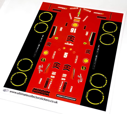 Lego MOC Sticker Sheet for F1000 (ddntube)
