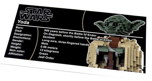 Lego Star Wars UCS Sticker for Yoda 7194