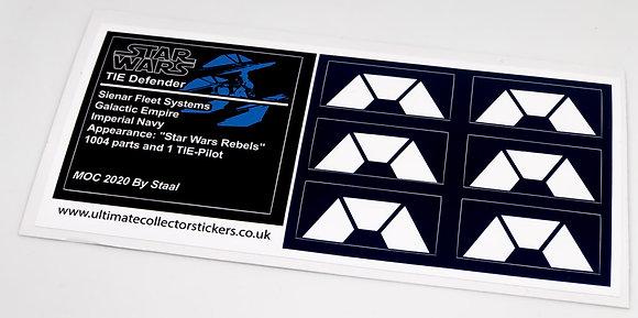 Lego Star Wars UCS / MOC Sticker Sheet for Tie Defender (MOC-35974)
