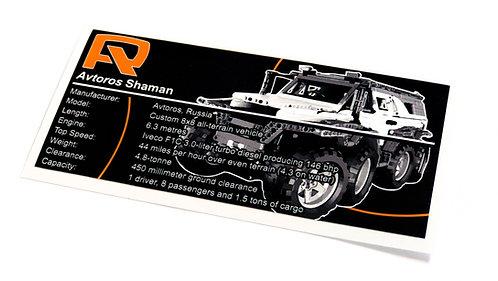 Lego Technic UCS / MOC Sticker for Avtoros Shaman 8x8 ATV