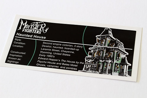 Lego Creator UCS / MOC Sticker for Haunted House 10228