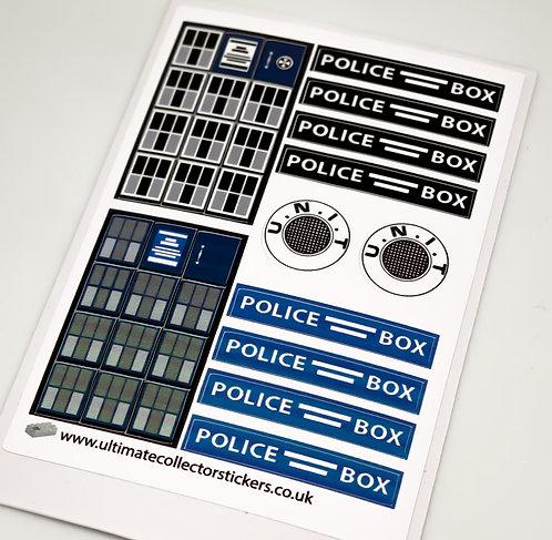 Lego MOC Sticker Sheet for Tardis