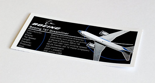 Lego Creator UCS Sticker for Boeing 787 Dreamliner 10177