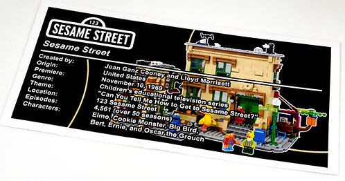 Lego Creator UCS Sticker for 123 Sesame Street 21324