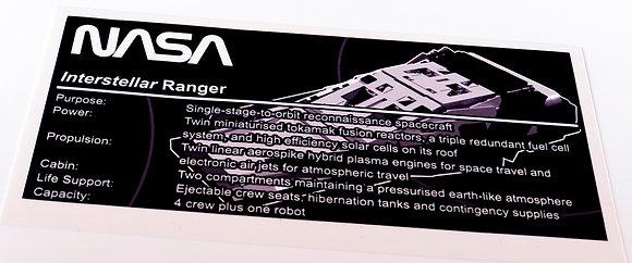 Lego Creator UCS / MOC Sticker for Interstellar Ranger + Instructions