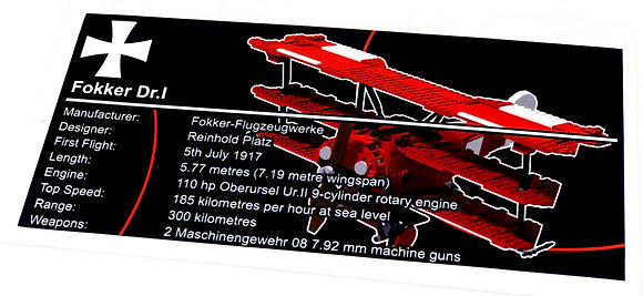 Lego Creator UCS Sticker for Red Baron 10024