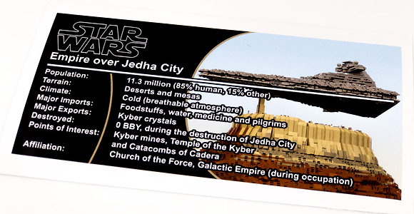 Lego Star Wars UCS / MOC Sticker for Empire Over Jedha