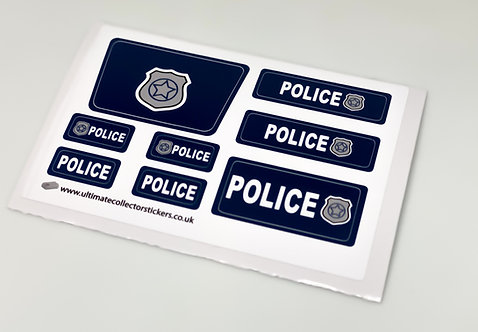 Lego City Sticker Sheet for Police Cars